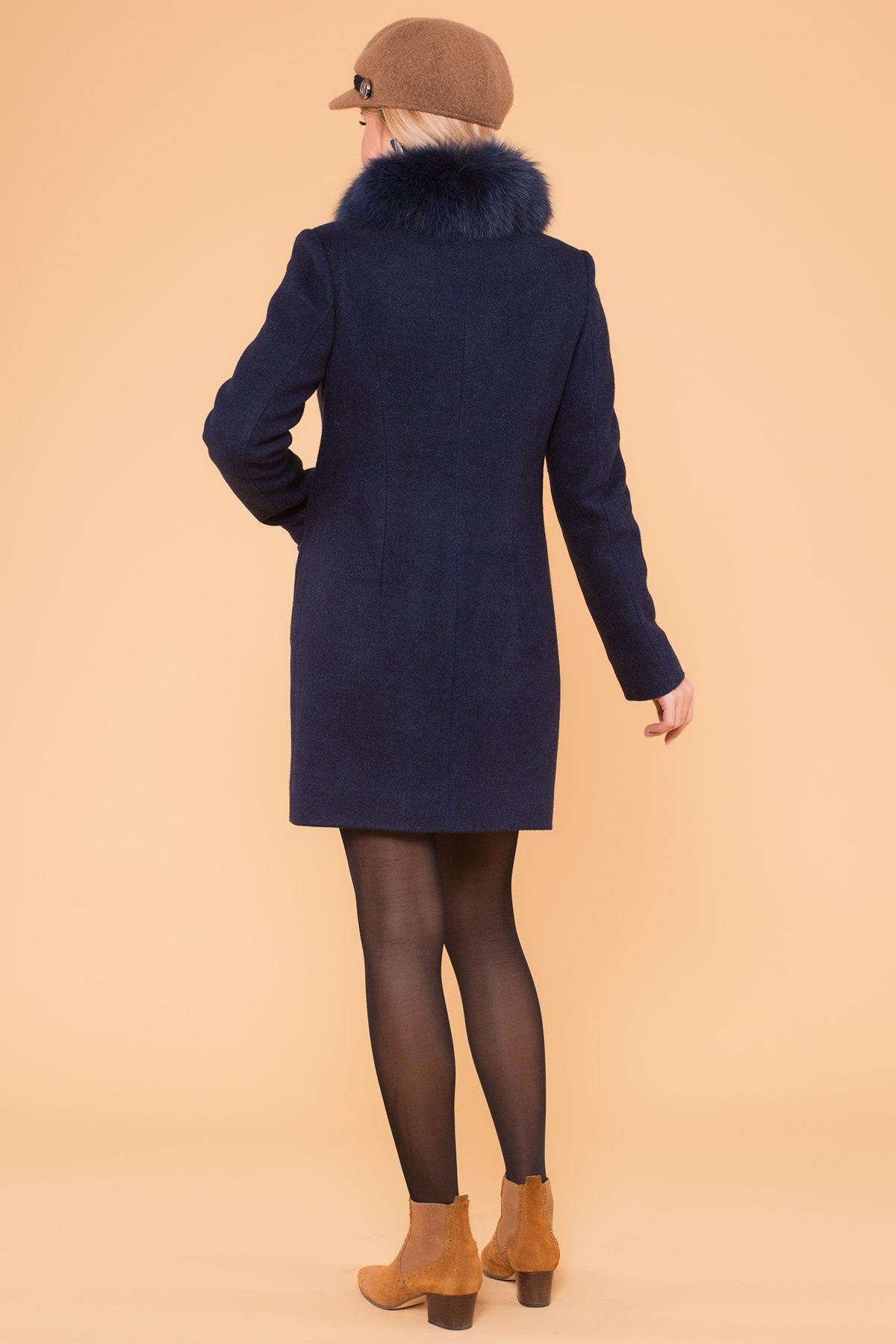 Пальто зима Мелини 5967 АРТ. 40569 Цвет: Т.синий 17 - фото 2, интернет магазин tm-modus.ru
