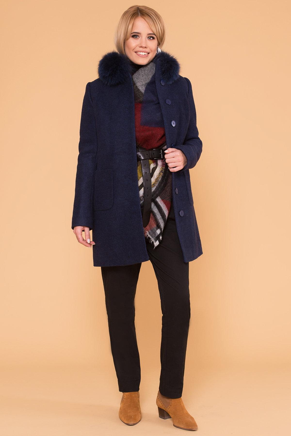 Пальто зима Мелини 5967 АРТ. 40569 Цвет: Т.синий 17 - фото 3, интернет магазин tm-modus.ru