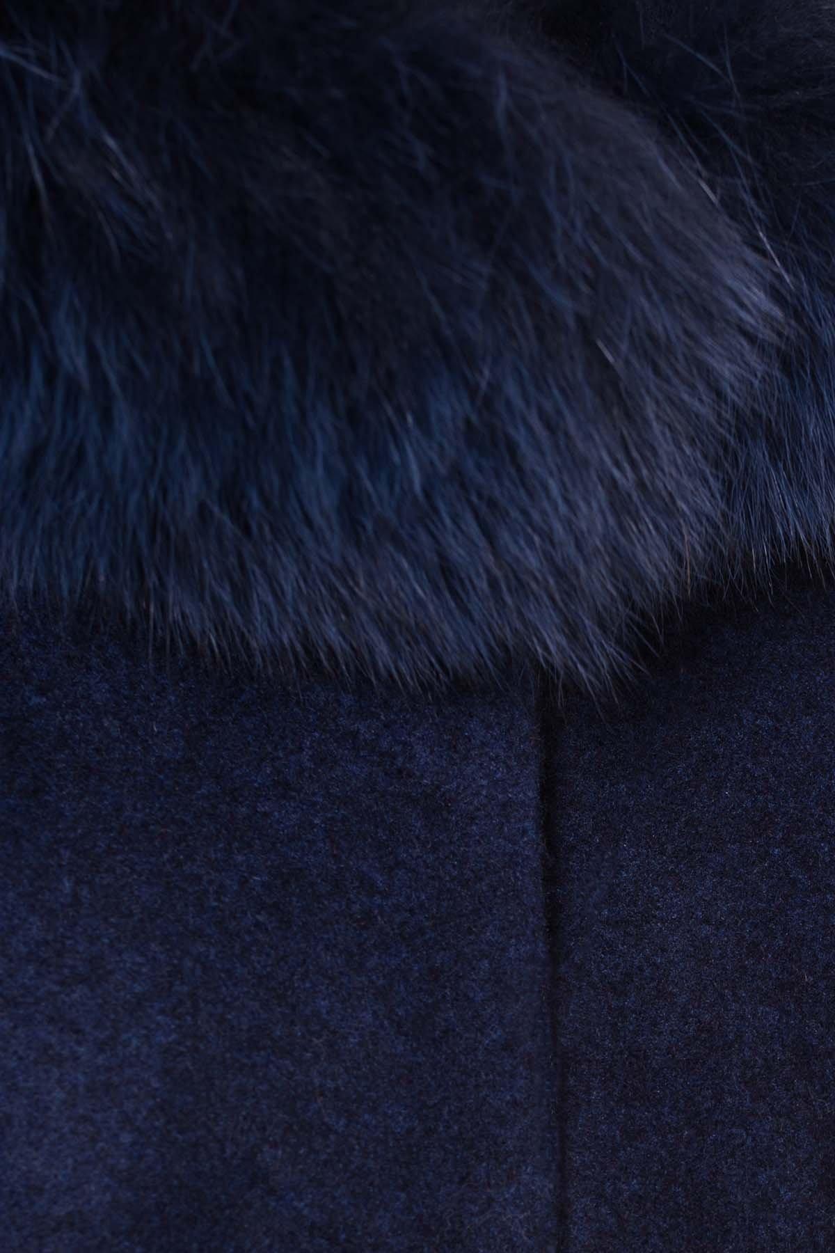 Пальто зима Мелини 5967 АРТ. 40569 Цвет: Т.синий 17 - фото 5, интернет магазин tm-modus.ru