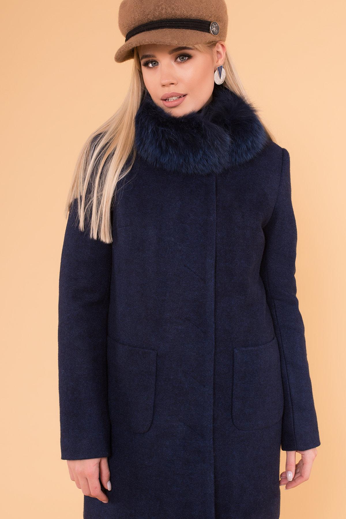 Пальто зима Мелини 5967 АРТ. 40569 Цвет: Т.синий 17 - фото 4, интернет магазин tm-modus.ru