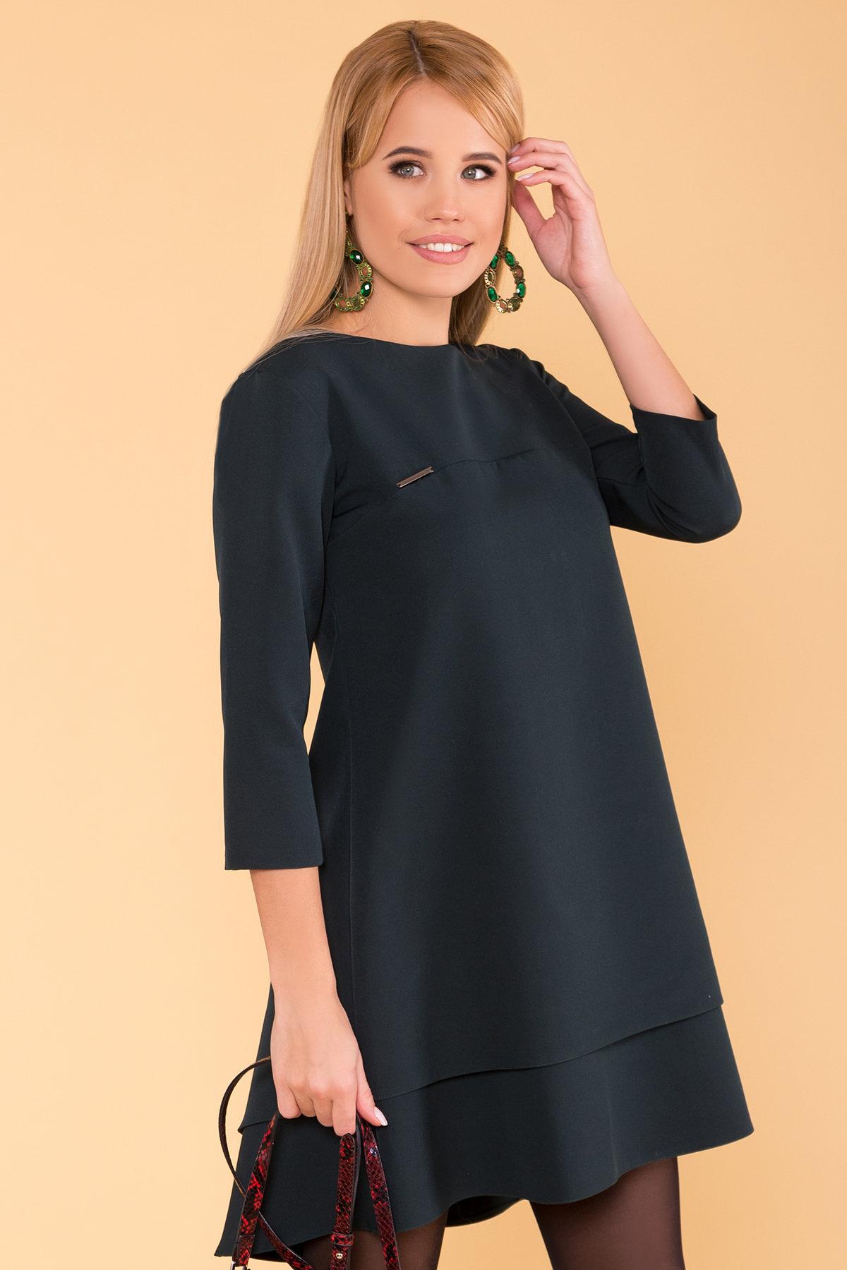 Платье Делафер 3245 Цвет: Темно-зеленый