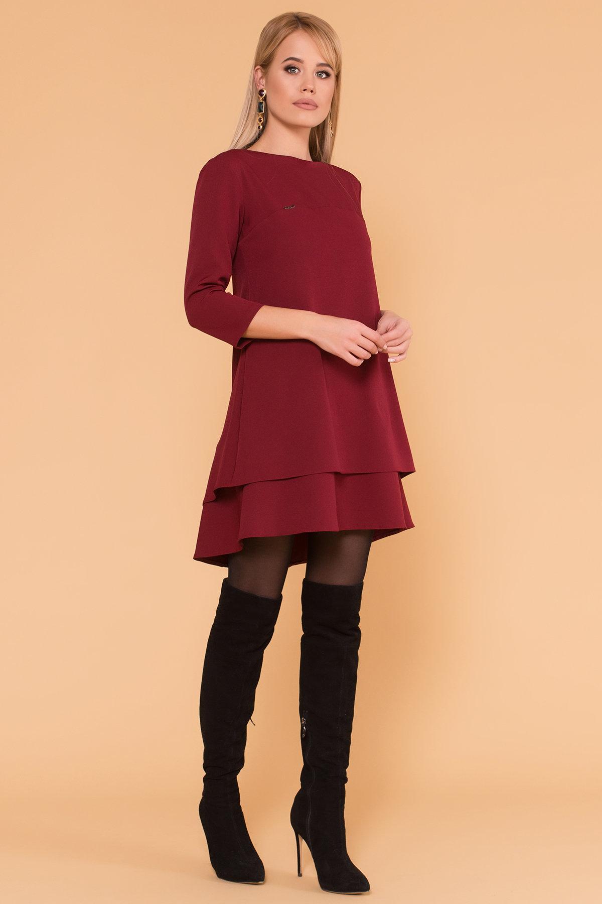 Платье Делафер 3245 Цвет: Марсала