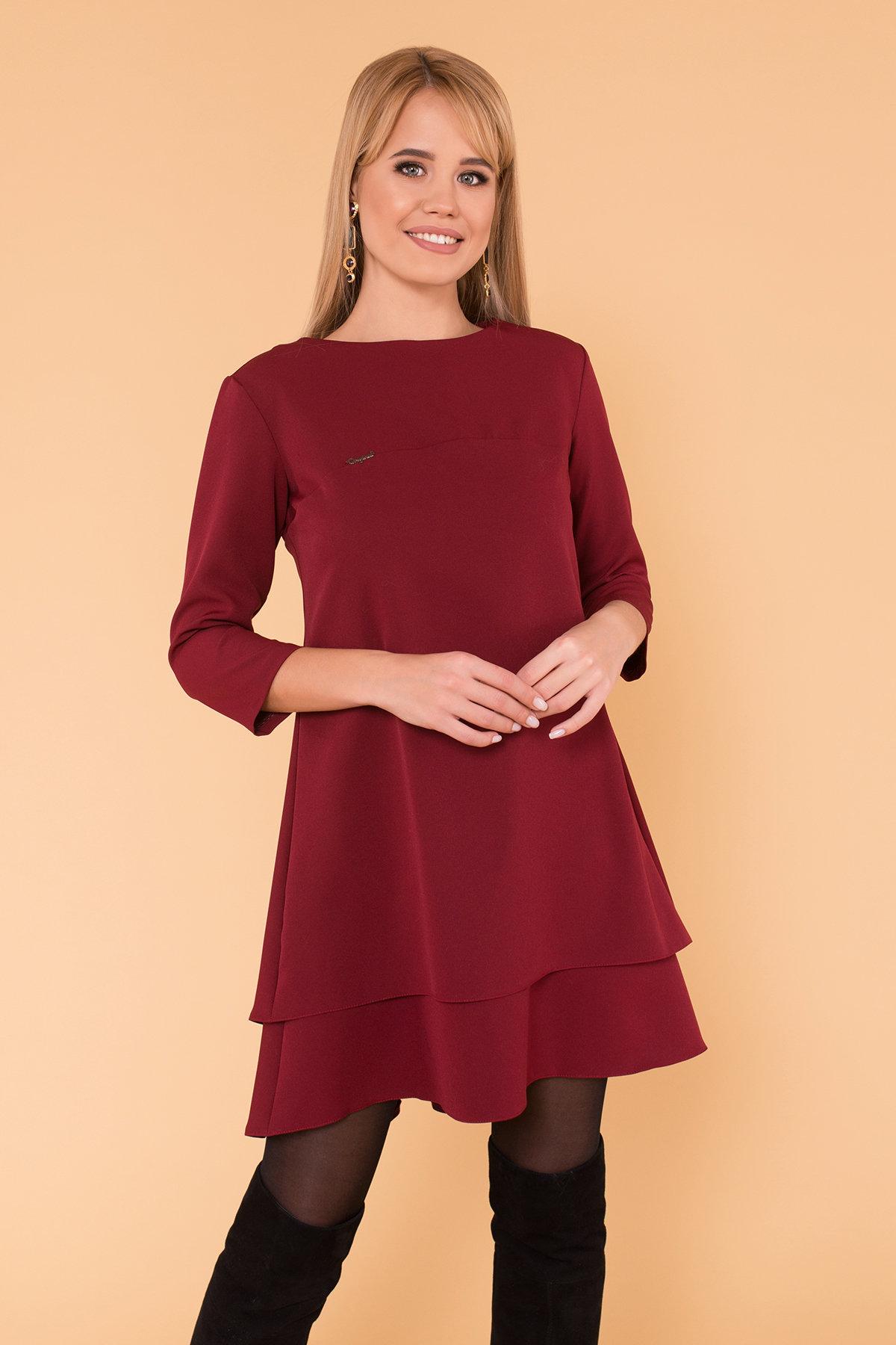 Платье Делафер 3245 АРТ. 16715 Цвет: Марсала - фото 3, интернет магазин tm-modus.ru