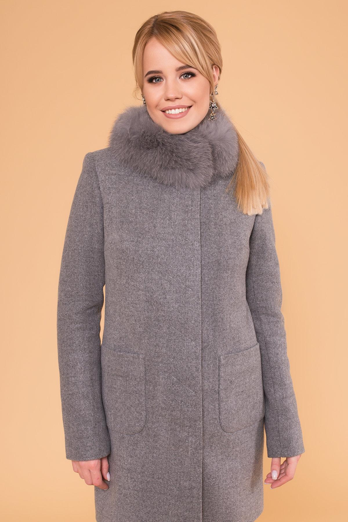 Пальто зима Мелини 5967 Цвет: Серый 18