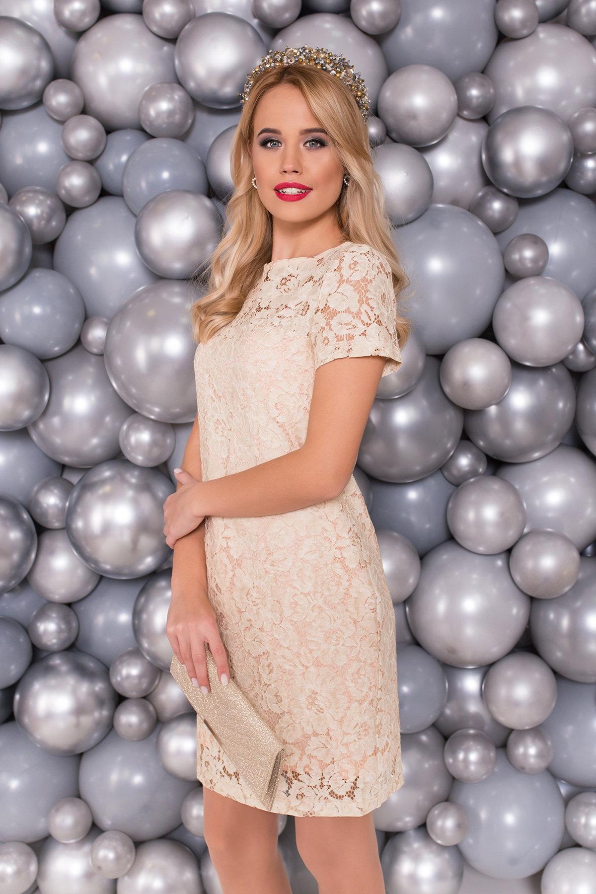 Платье Винтаж 3107 Цвет:  Светлый Персик