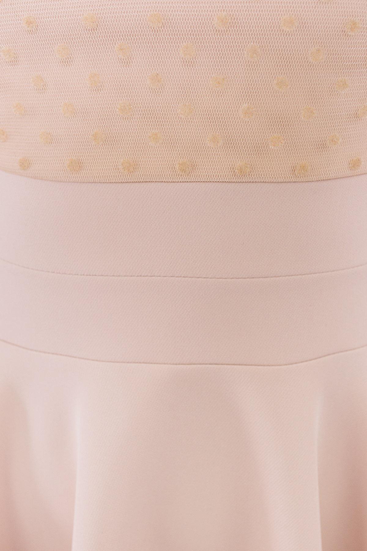 Платье с юбкой солнце Менди 6053 АРТ. 40654 Цвет: Бежевый - фото 4, интернет магазин tm-modus.ru