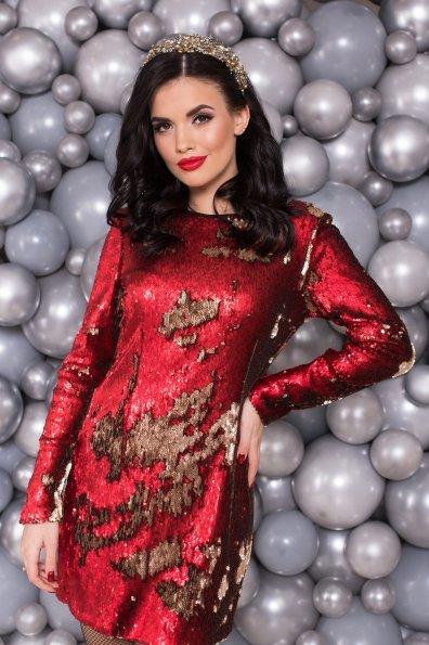 Платье Лагерда 4317 Цвет: Красный/золото
