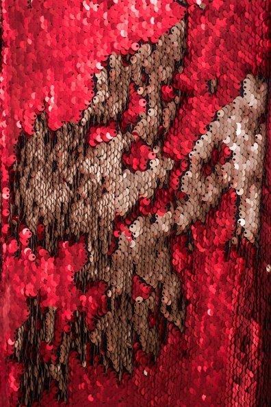 Платье в пайетках Лагерда 4317 Цвет: Красный/золото
