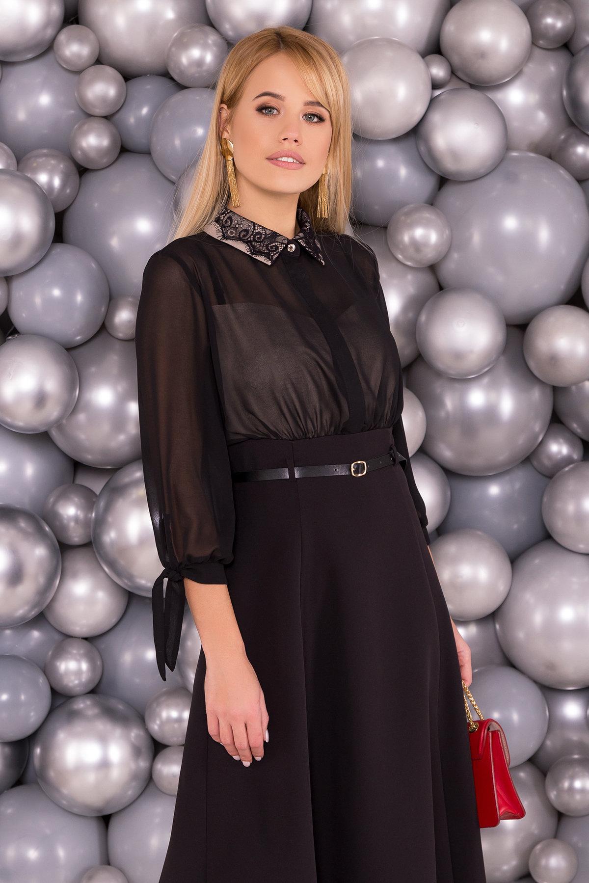 Платье Берли 6081 Цвет: Черный/бежевый