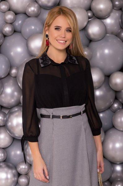 Платье Берли 6017 Цвет: Черный/белый2/1 Гусин лап