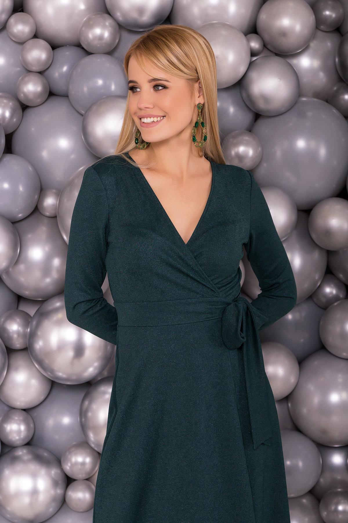 Платье миди Жозель 5863 АРТ. 38226 Цвет: Зеленый - фото 3, интернет магазин tm-modus.ru