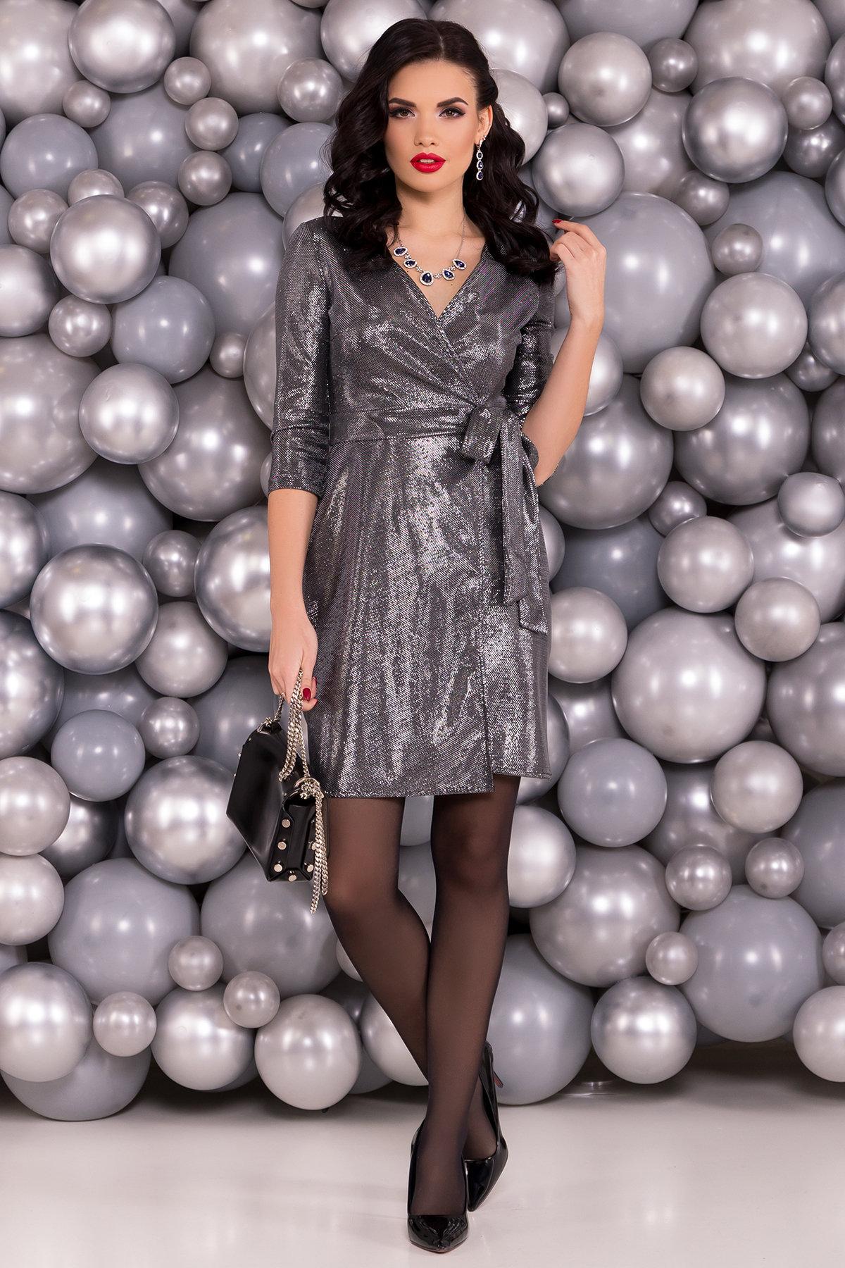 Платье Бонни люрекс 6019 Цвет: Серебро