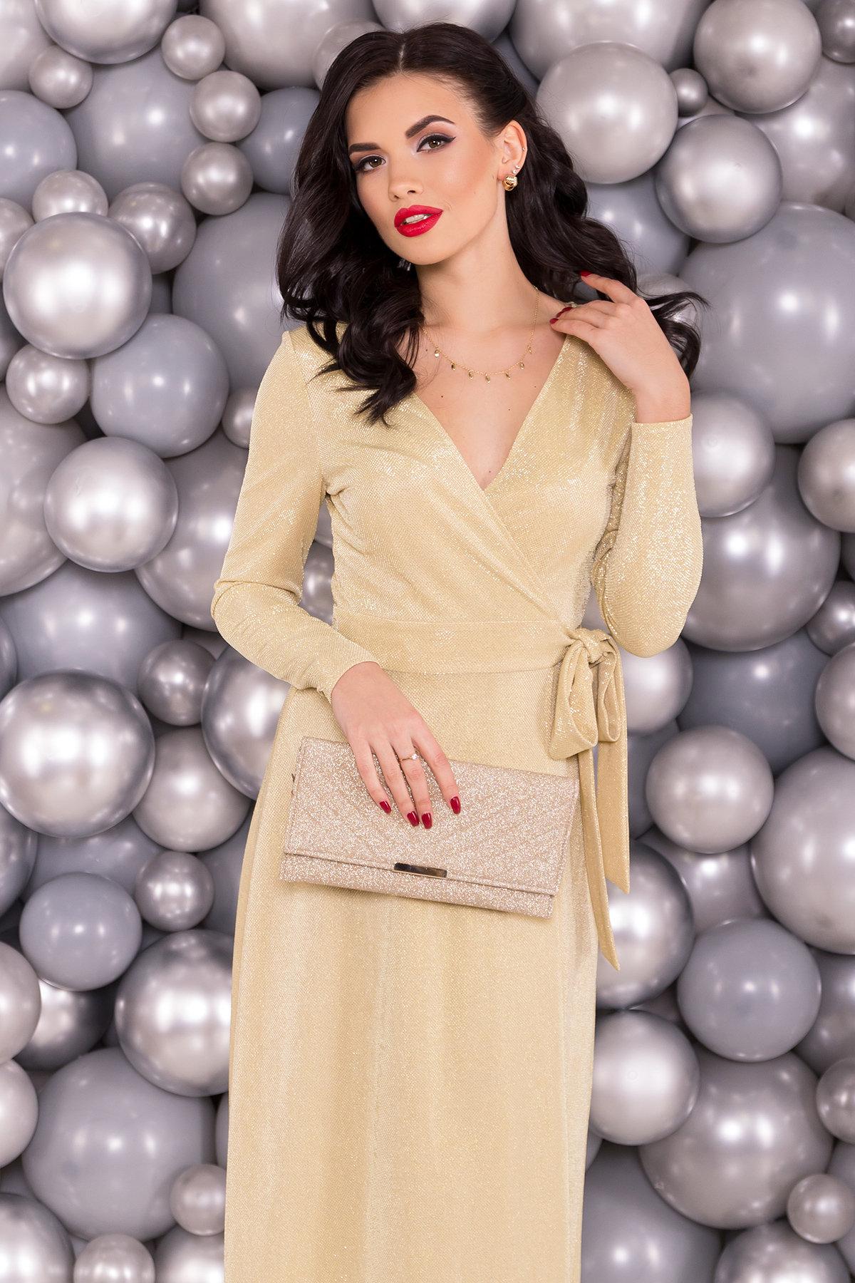 Платье Жозель миди люрекс 6020 Цвет: Золото