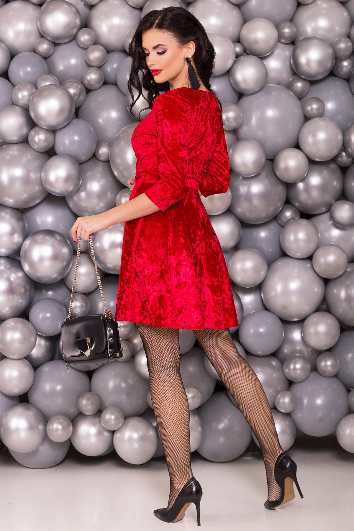 Платье Келли 6027 АРТ. 40650 Цвет: Красный - фото 2, интернет магазин tm-modus.ru