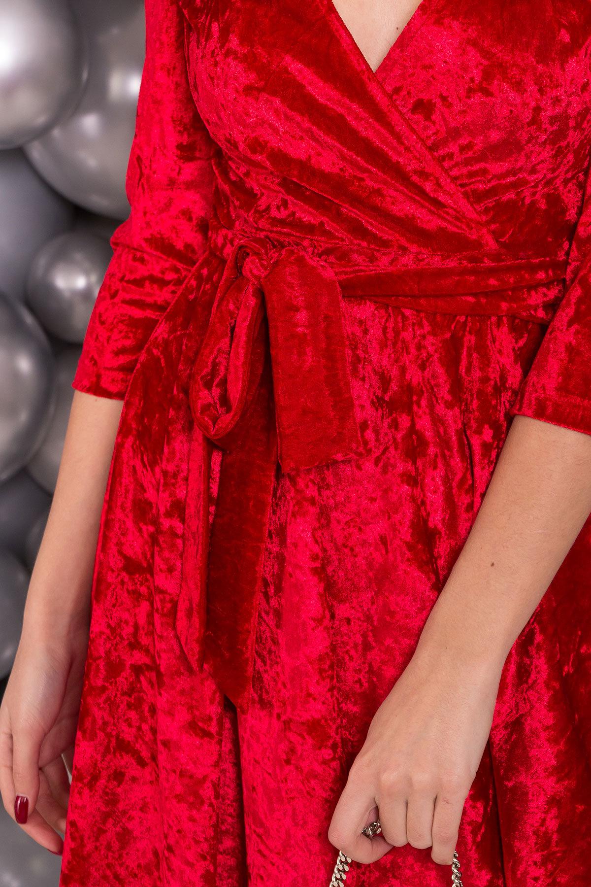 Платье Келли 6027 АРТ. 40650 Цвет: Красный - фото 4, интернет магазин tm-modus.ru
