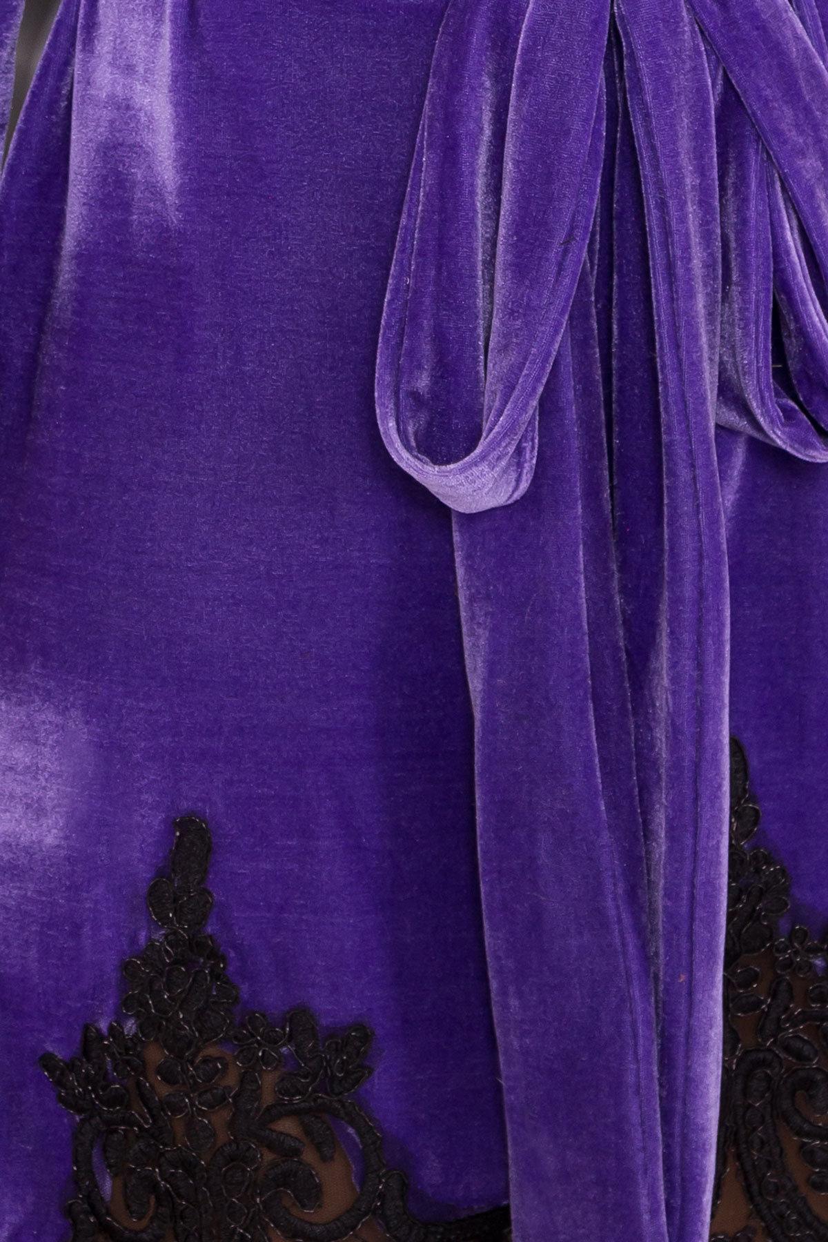 Платье Валери 4190 АРТ. 40617 Цвет: Фиолетовый - фото 4, интернет магазин tm-modus.ru