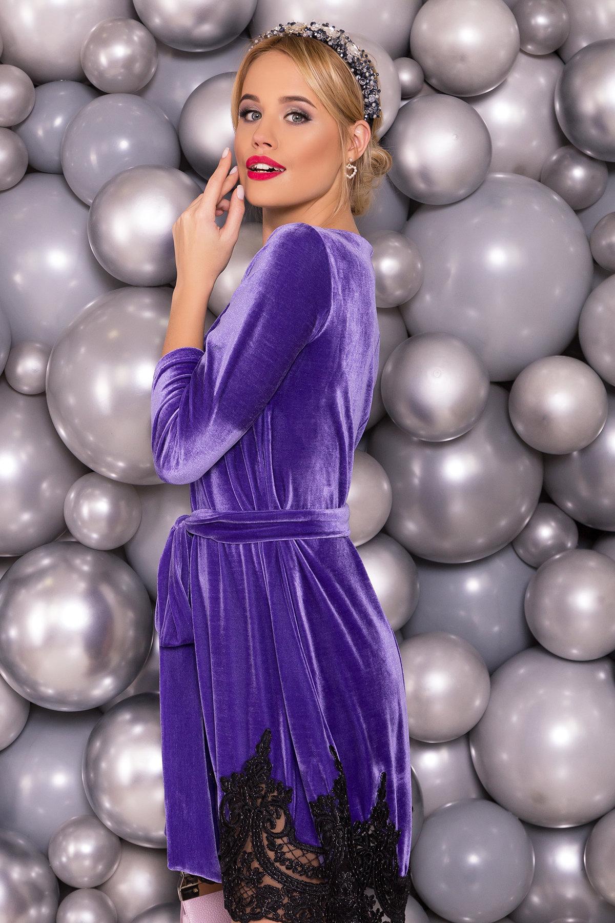 Платье Валери 4190 АРТ. 40617 Цвет: Фиолетовый - фото 3, интернет магазин tm-modus.ru