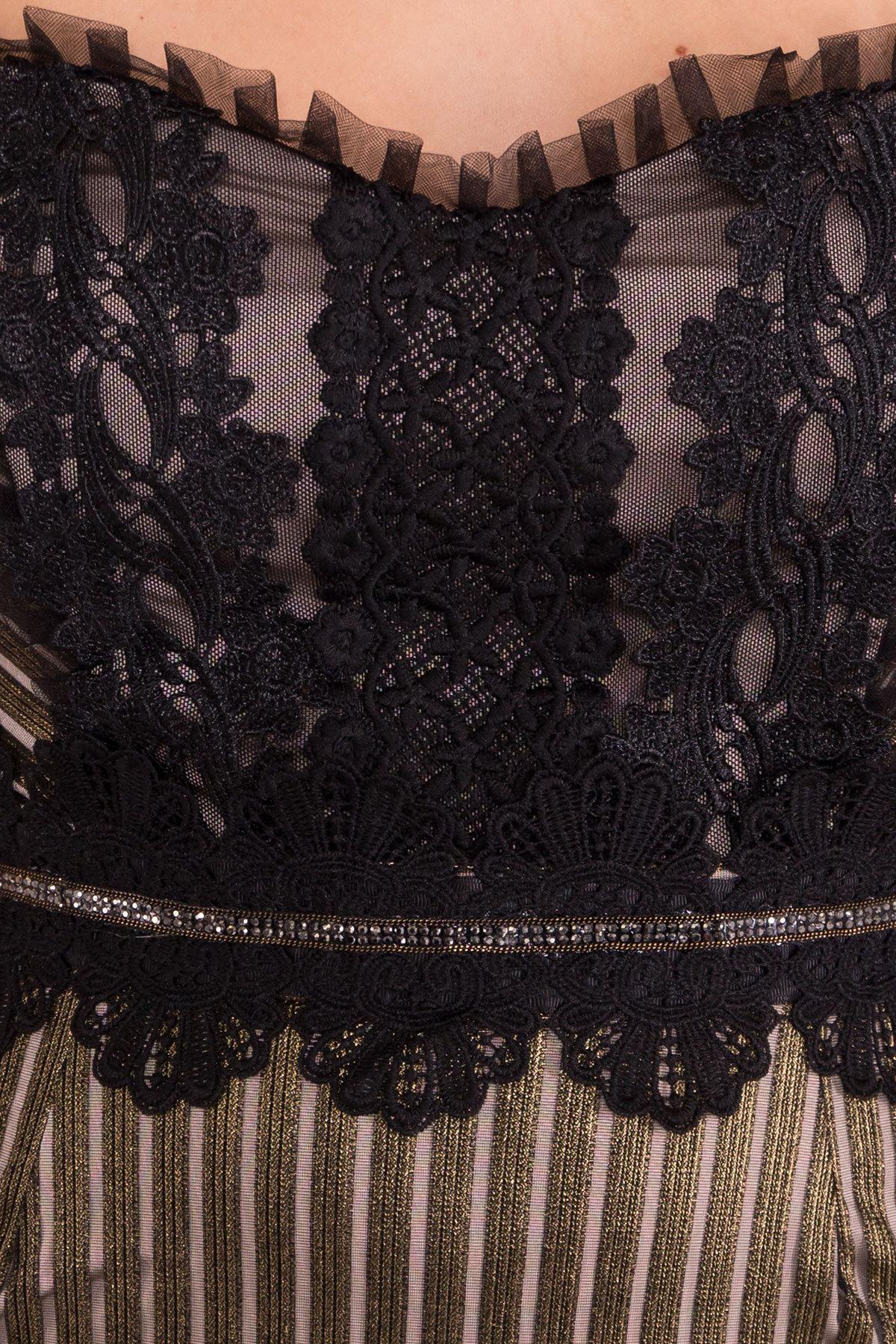 Платье-карандаш Дия 4292 Цвет: Черный/золото