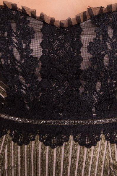 Платье Дия 4292 Цвет: Черный/золото