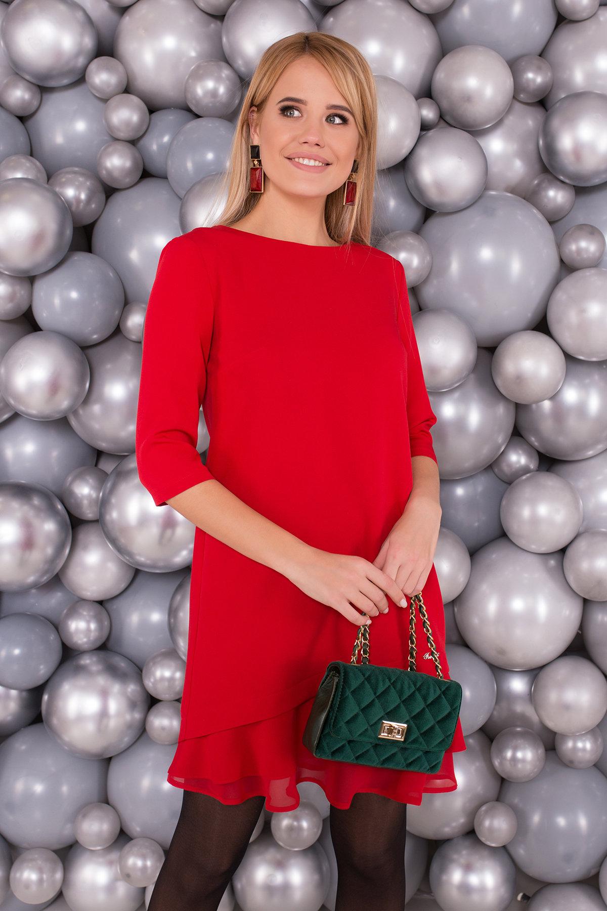 Платье Холли 5952 АРТ. 40602 Цвет: Красный - фото 3, интернет магазин tm-modus.ru