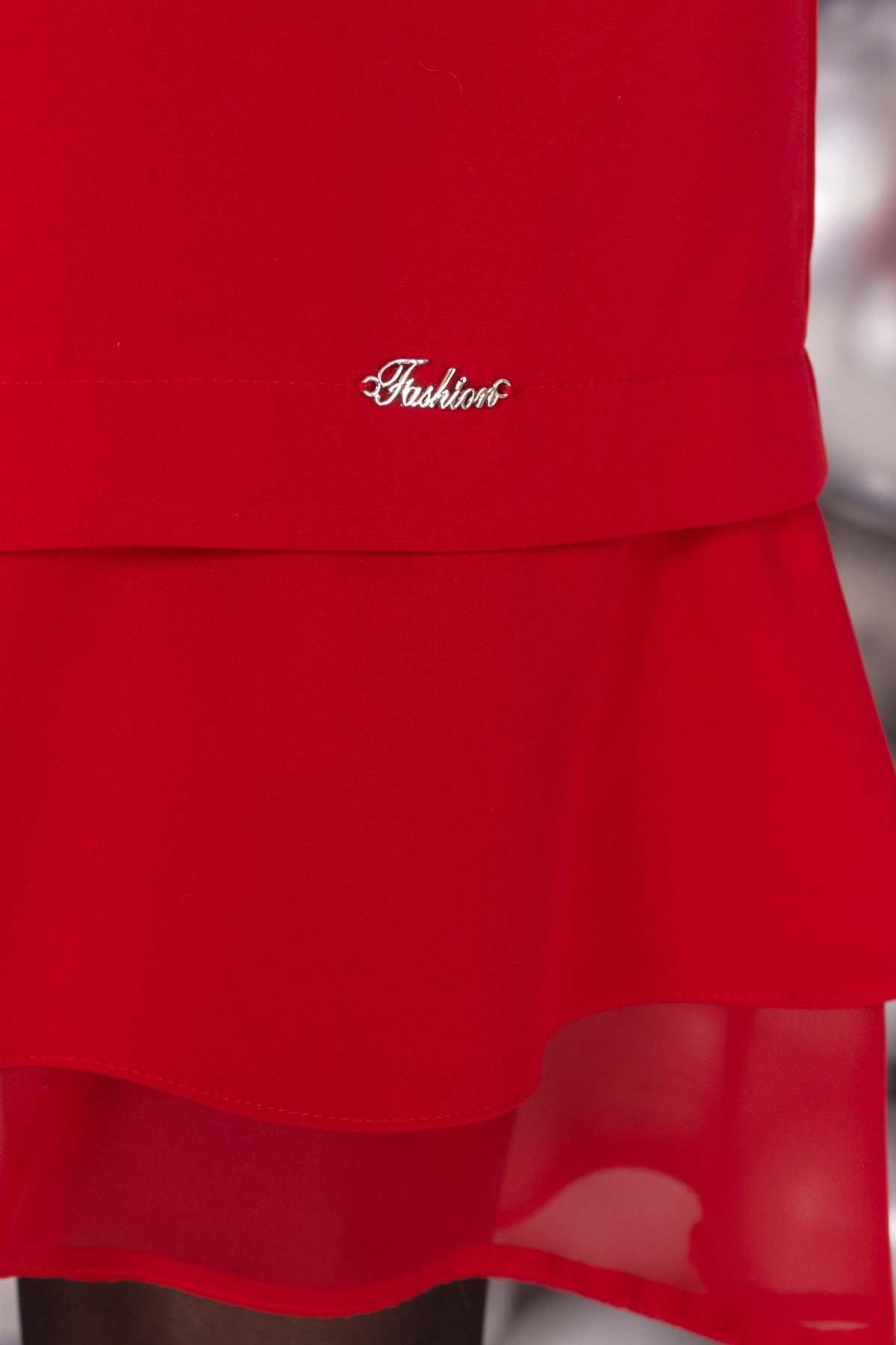 Платье Холли 5952 АРТ. 40602 Цвет: Красный - фото 4, интернет магазин tm-modus.ru