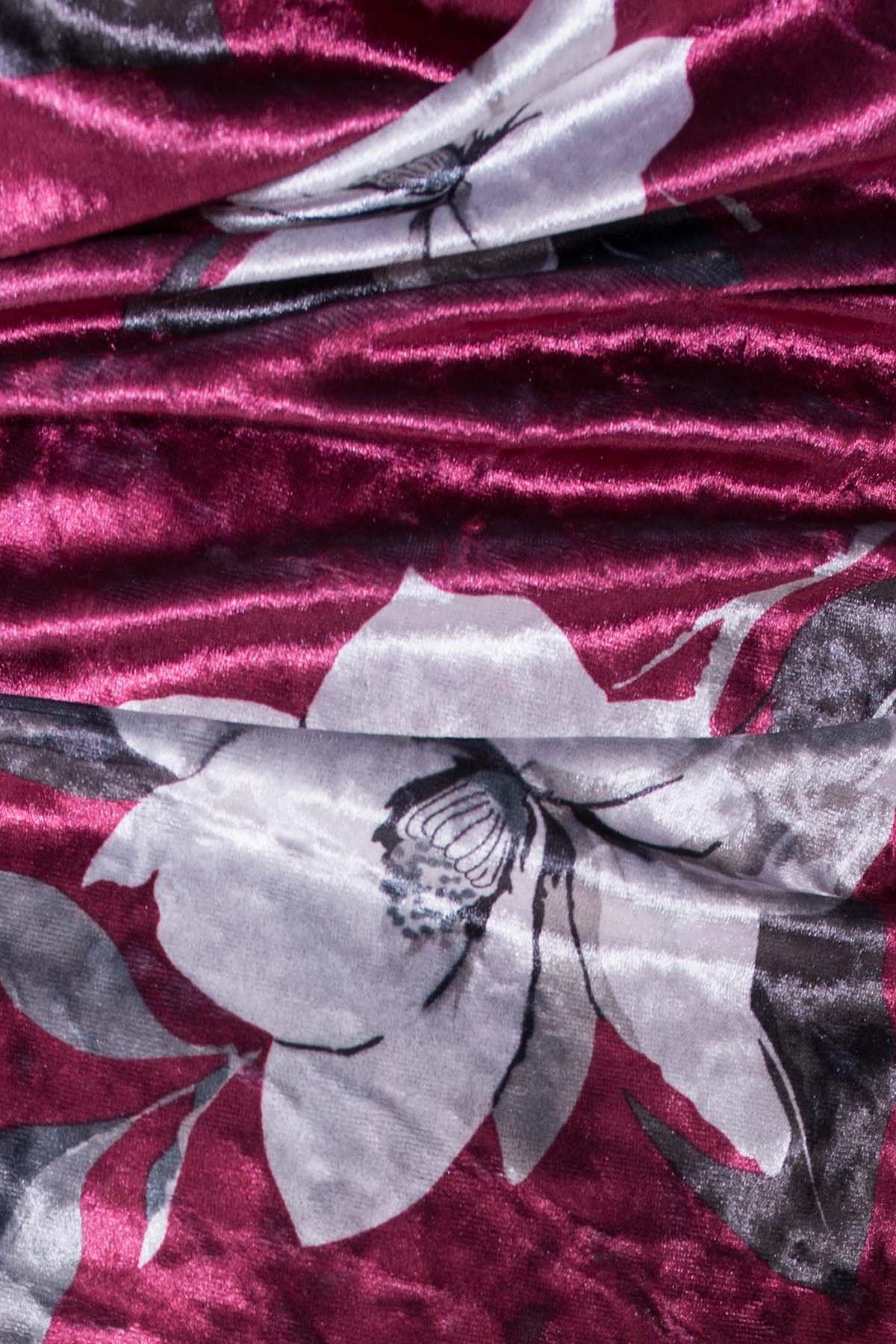 Платье Ламия 4660 АРТ. 33651 Цвет: Марсала цветы крупные - фото 4, интернет магазин tm-modus.ru