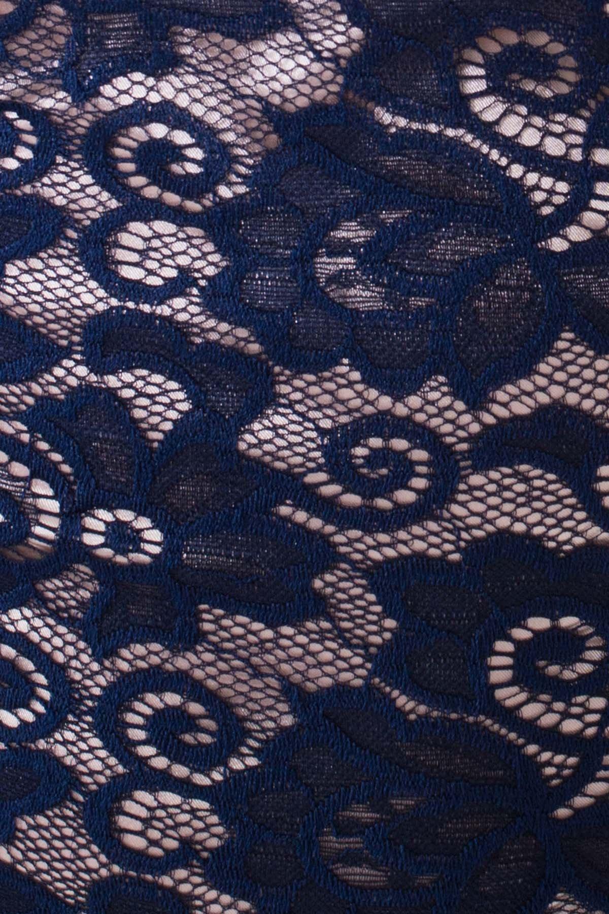 Платье Лук 4105 АРТ. 20778 Цвет: Темно-синий/бежевый - фото 4, интернет магазин tm-modus.ru
