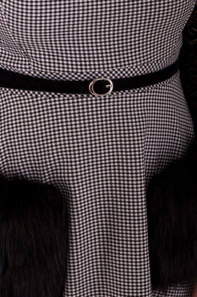 Платье с гипюровыми вставками Кассия 3851 Цвет: Черный/белый2/1