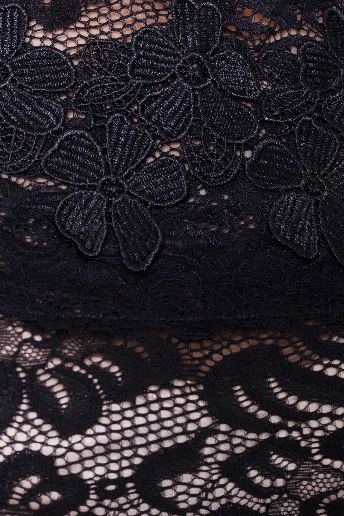 Гипюровое Платье Россини 4319 АРТ. 21130 Цвет: Черный/беж вензеля - фото 4, интернет магазин tm-modus.ru
