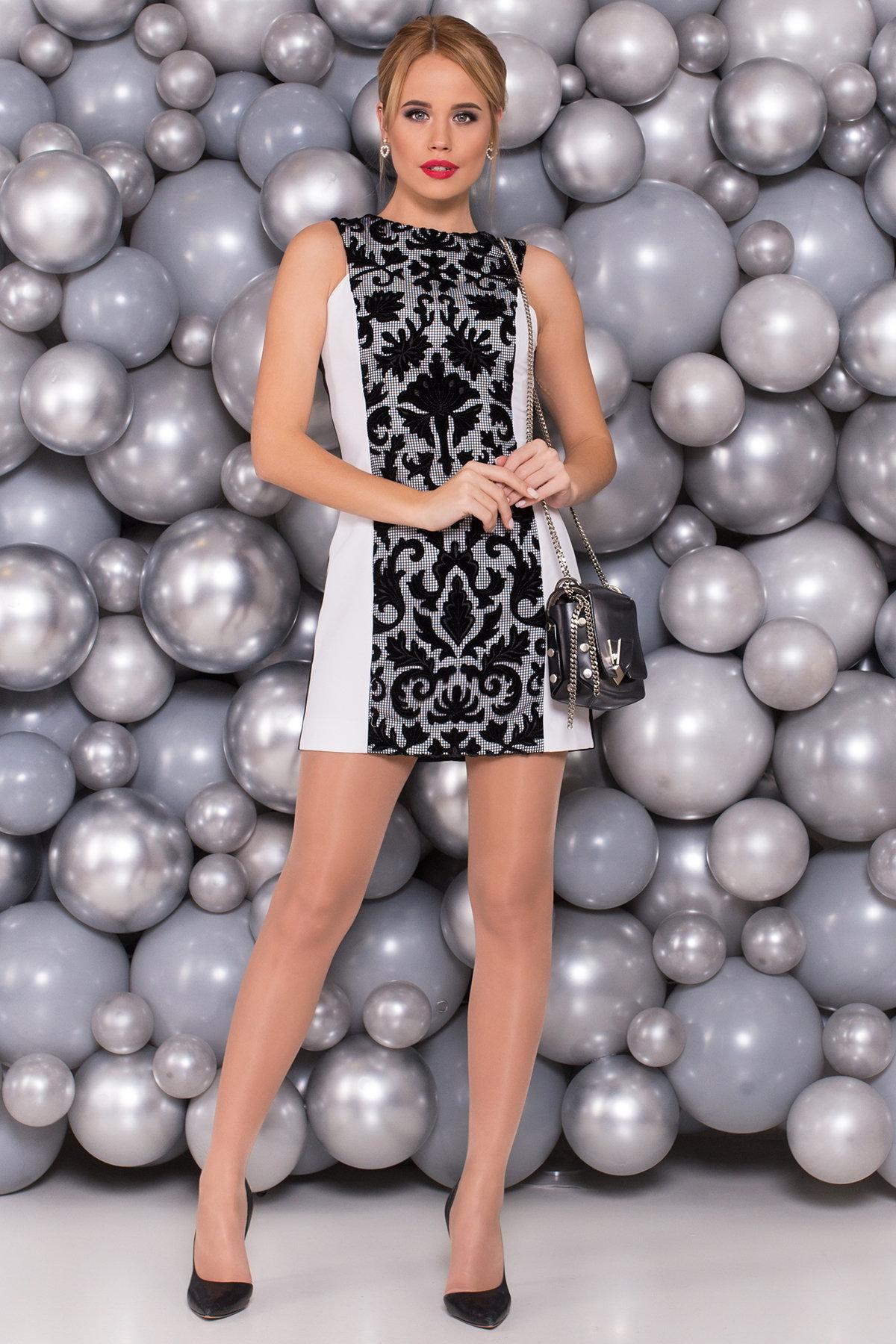 Платье Глория 4657 Цвет: Черный/белый