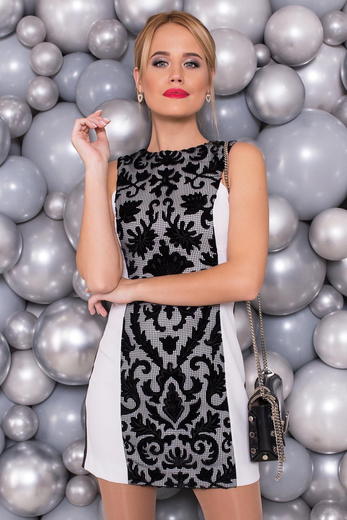 Платье Глория 4657 АРТ. 33754 Цвет: Черный/белый - фото 3, интернет магазин tm-modus.ru