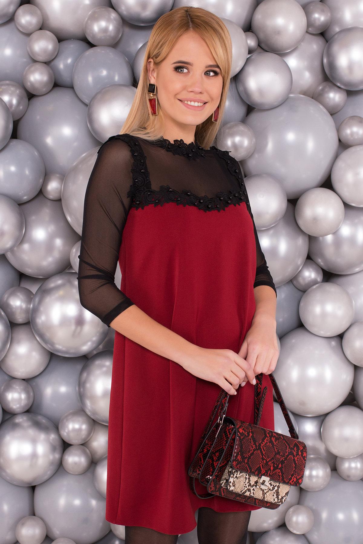 Платье Мусс 5485 АРТ. 37723 Цвет: Марсала - фото 3, интернет магазин tm-modus.ru