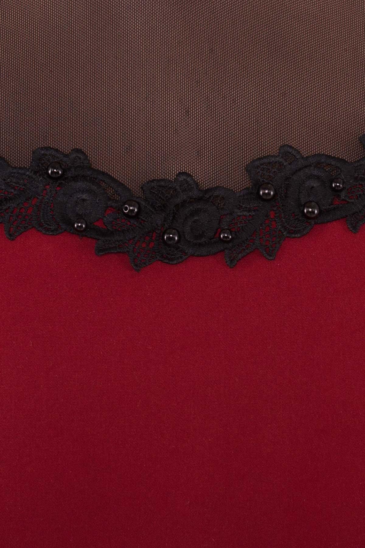 Платье Мусс 5485 АРТ. 37723 Цвет: Марсала - фото 4, интернет магазин tm-modus.ru