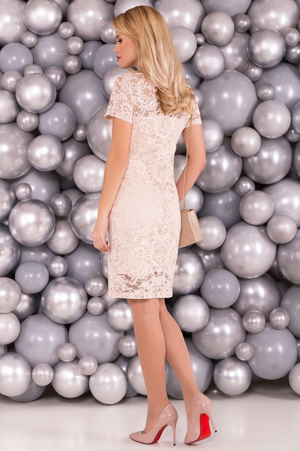 Платье Винтаж 3107 АРТ. 34278 Цвет: Бежевый - фото 2, интернет магазин tm-modus.ru