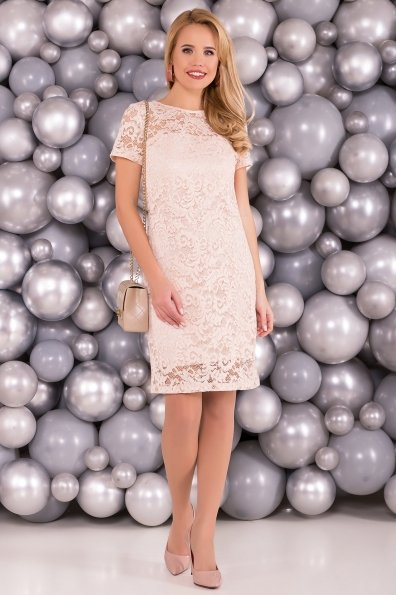 Платье Винтаж 3107 Цвет: Бежевый