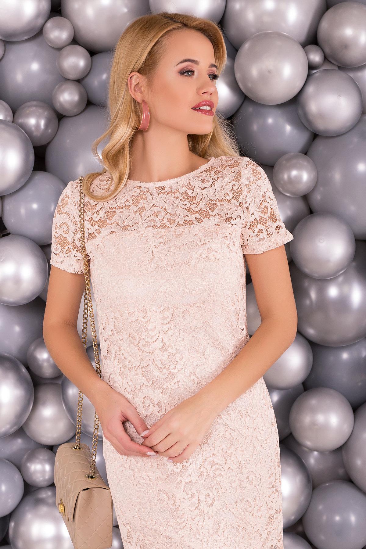Платье Винтаж 3107 АРТ. 34278 Цвет: Бежевый - фото 3, интернет магазин tm-modus.ru