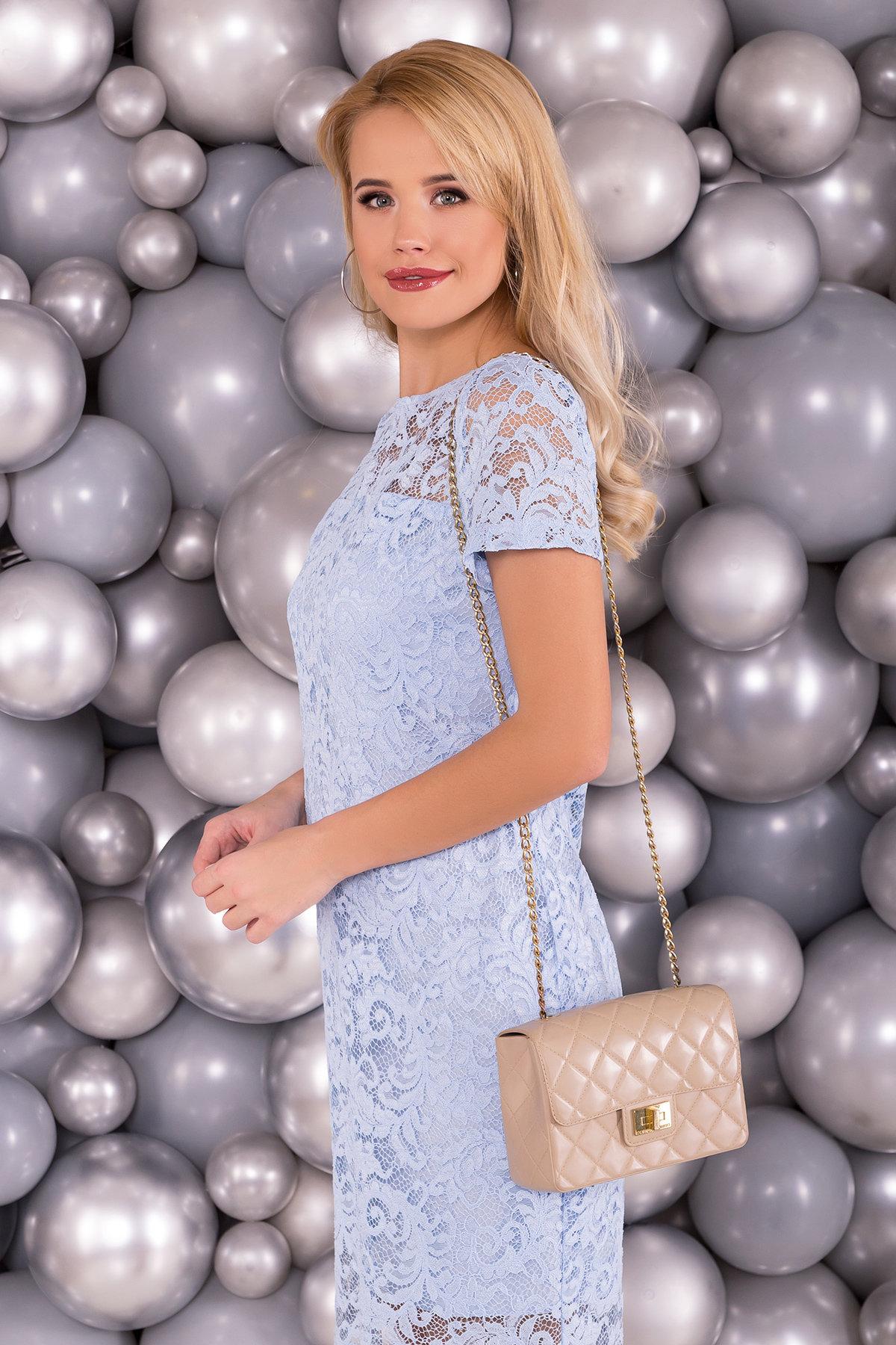 Платье Винтаж 3107 АРТ. 16056 Цвет: Голубой - фото 3, интернет магазин tm-modus.ru