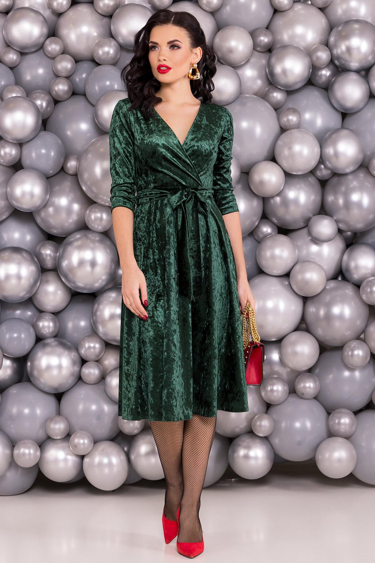 Платье миди Келли 6094 Цвет: Зеленый