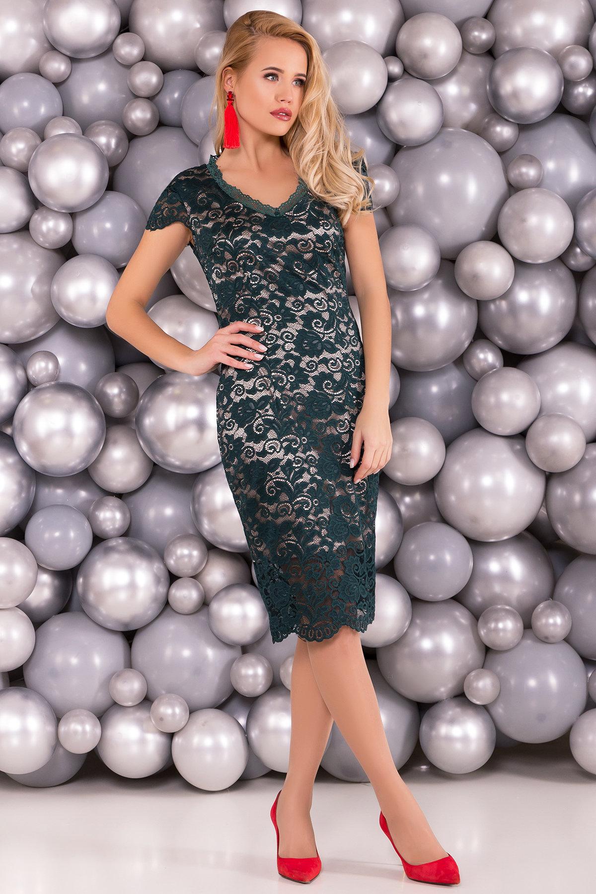 трикотажные платья оптом Платье Лук 4105