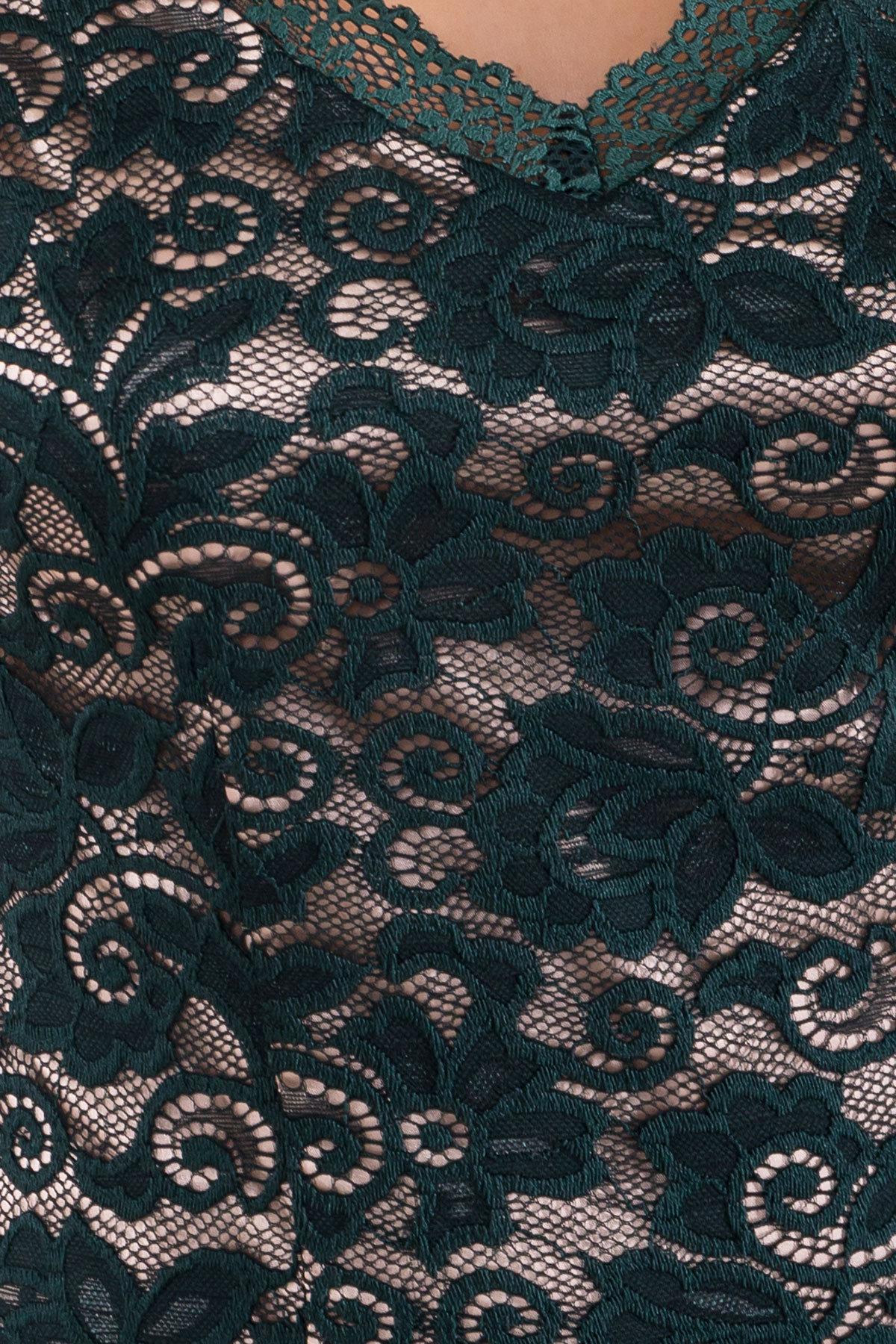 Платье Лук 4105 АРТ. 20779 Цвет: Зеленый Темный/бежевый - фото 4, интернет магазин tm-modus.ru