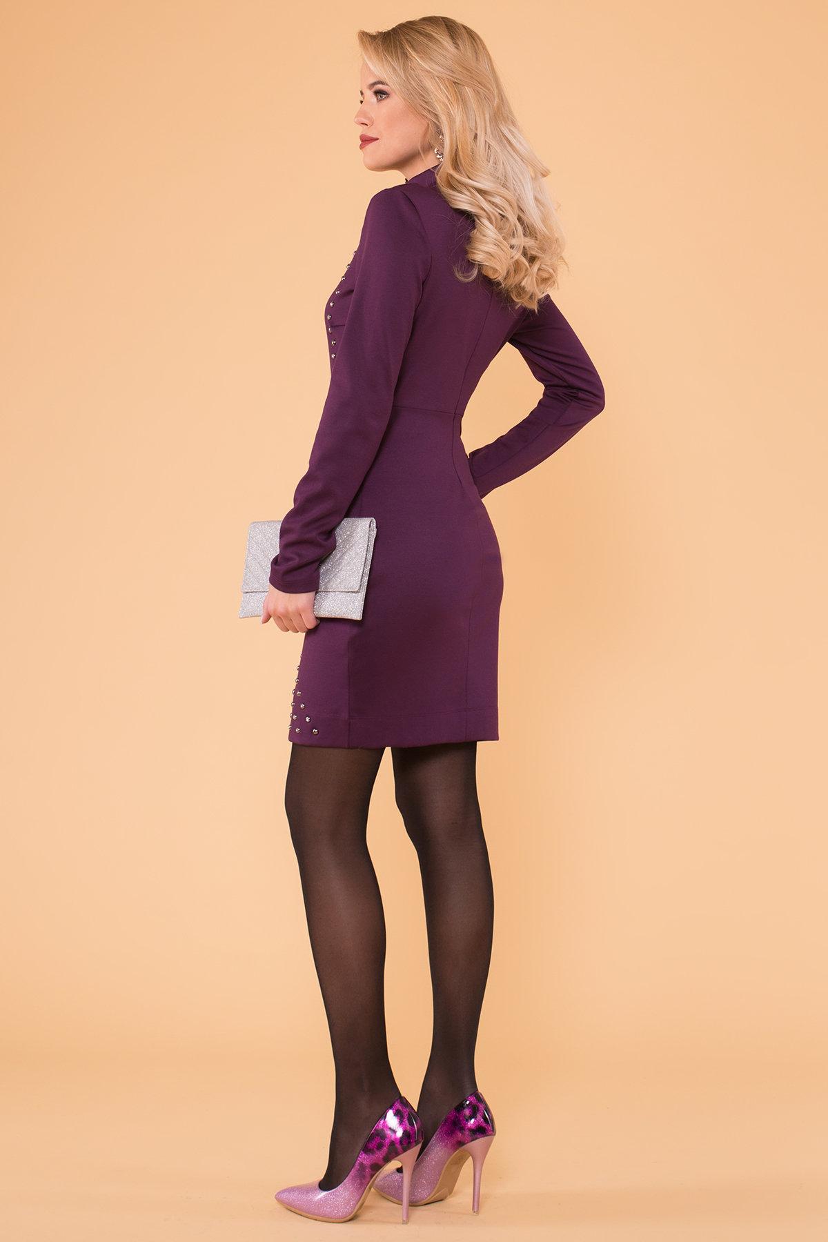 Облегающее короткое Платье Дюке 4430 Цвет: Фиолет Темный