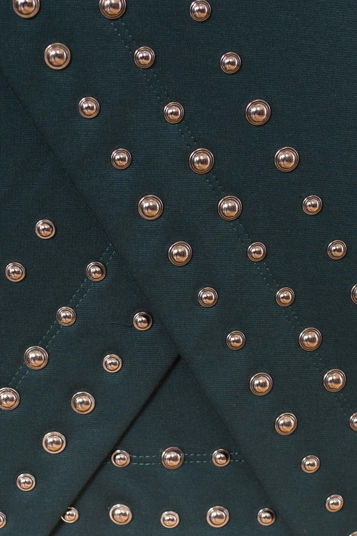Облегающее короткое Платье Дюке 4430 АРТ. 21291 Цвет: Зеленый - фото 4, интернет магазин tm-modus.ru