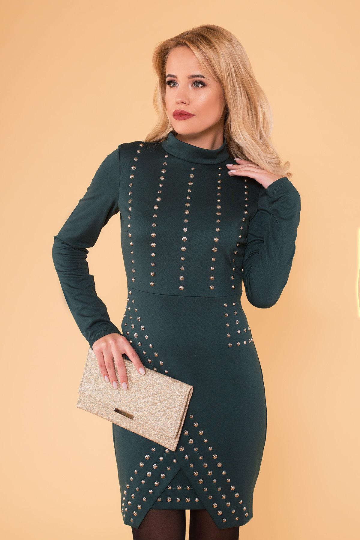 Облегающее короткое Платье Дюке 4430 АРТ. 21291 Цвет: Зеленый - фото 3, интернет магазин tm-modus.ru