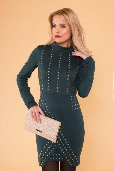 Облегающее короткое Платье Дюке 4430 Цвет: Зеленый