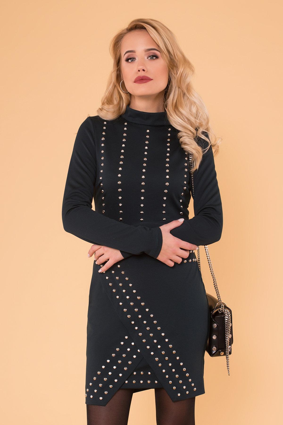 Облегающее короткое Платье Дюке 4430 АРТ. 21290 Цвет: Зеленый Темный - фото 3, интернет магазин tm-modus.ru