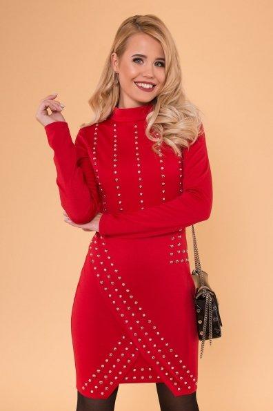 Облегающее короткое Платье Дюке 4430 Цвет: Красный