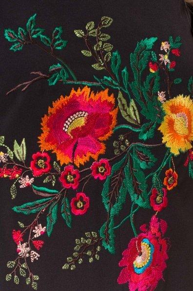 Модное Платье с рукавами из сетки Твинсет 3332 Цвет: Черный