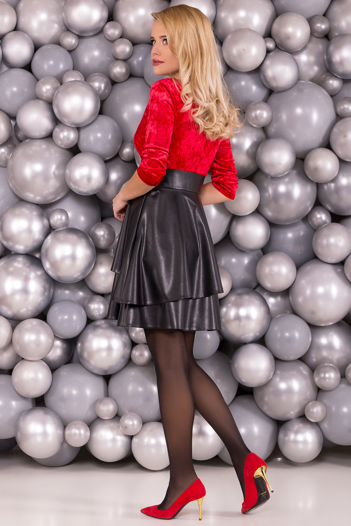 Платье Вайра 6111 АРТ. 40802 Цвет: Красный - фото 2, интернет магазин tm-modus.ru