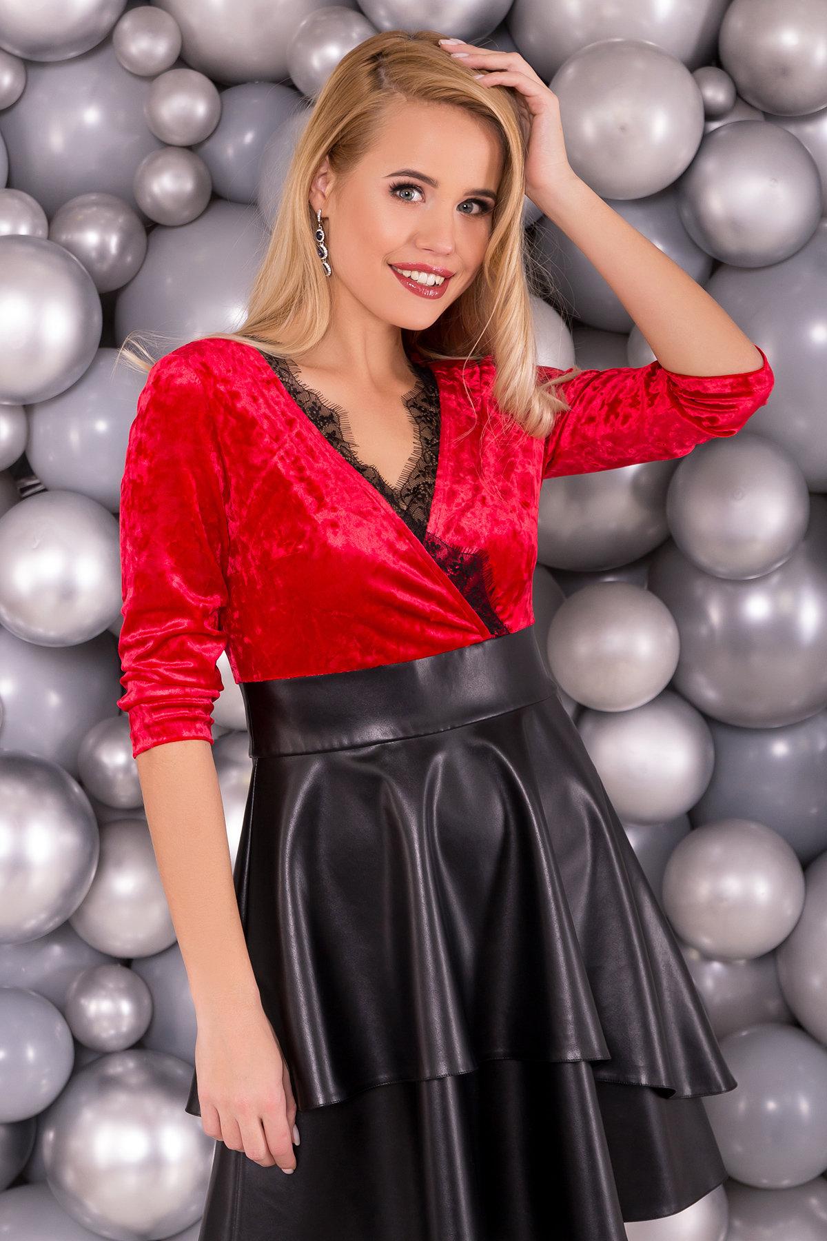 Платье Вайра 6111 АРТ. 40802 Цвет: Красный - фото 3, интернет магазин tm-modus.ru