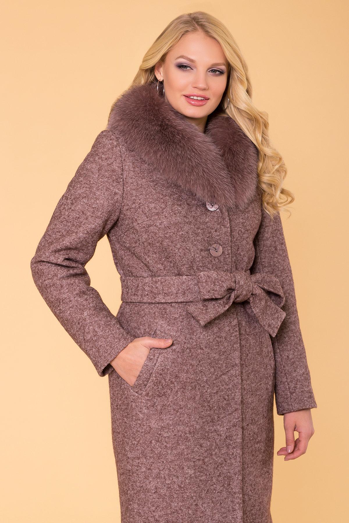 Пальто зима Габриэлла Donna 6048 Цвет: Кофе LW-4